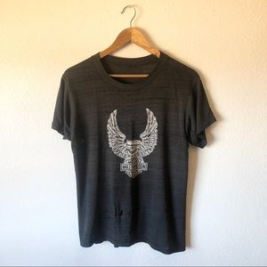 Vintage soft and thin distressed Harley Davidson T